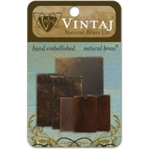 Vintaj Natural Brass: Blanks, Value Pack #2, Squares and Rectangles