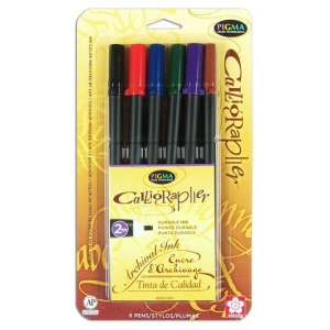 Sakura of America Pigma Calligrapher Pen Set: 2MM, Assorted 6 Pack