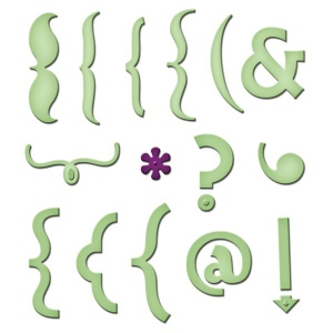 Spellbinders Shapeabilities Keyboard Icons