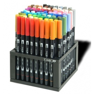 Tombow Dual Brush Pen: 96 Color Set with Desk Stand
