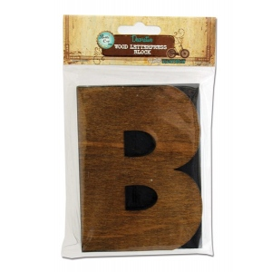 Bottle Cap Inc. Mixed Media Letter Press Block: Large B