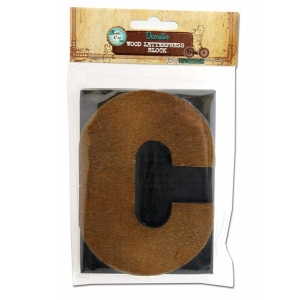 Bottle Cap Inc. Mixed Media Letter Press Block: Large C