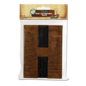 Bottle Cap Inc. Mixed Media Letter Press Block: Large H