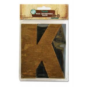 Bottle Cap Inc. Mixed Media Letter Press Block: Large K
