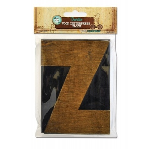 Bottle Cap Inc. Mixed Media Letter Press Block: Large Z