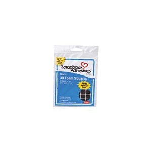 Scrapbook Adhesives by 3L 3D Foam Squares: Assorted Variety Pack, Black