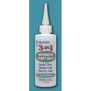Beacon Adhesives 3-in-1 Advanced Craft Glue: 4oz.