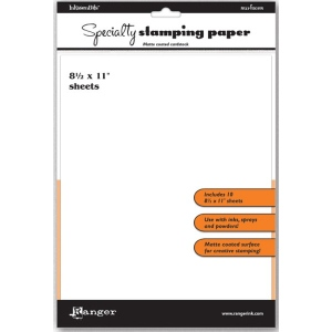 "Ranger Specialty Stamping Paper: 8.5"" x 11"""