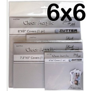 """Zutter Clear Acrylic Covers: 2 Pieces, 6"""" x 6"""""""