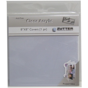 "Zutter Clear Acrylic Covers: 2 Pieces, 8"" x 8"""