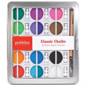 American Crafts Pebbles Chalk Set: Classic, Brights, 30 Piece