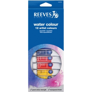 Reeves™ 10ml Watercolor Paint 12-Color Set; Color: Multi; Format: Tube; Size: 10 ml; Type: Watercolor; (model 8494250), price per set