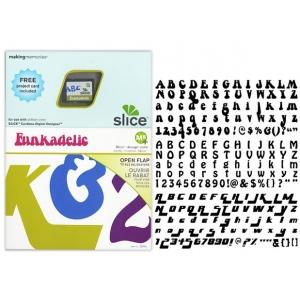 Making Memories Slice Design Card: Funkadelic Font