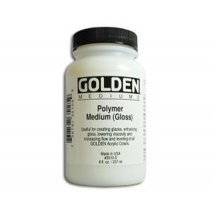 Golden Polymer Mediums: Gloss, 8 Ounces