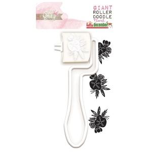 Glitz Hello December Giant Roller: Doodle Floral