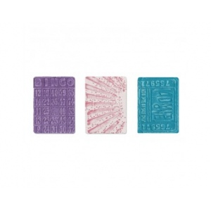 Sizzix Tim Holtz Alterations Texture Trades Embossing Folders: Playing Games, Pack of 3