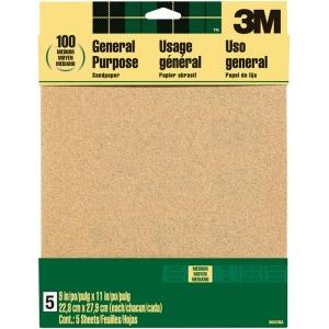 3M™ Aluminum Oxide Sandpaper Medium Grit: Medium, Rectangle, Sandpaper, (model 9002NA), price per pack