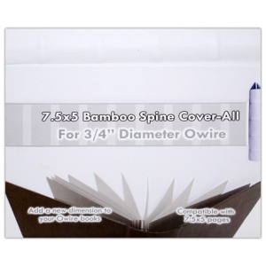 """Zutter Bamboo Spine Cover-Alls for 3/4"""" Owires: 7.5"""" x 5"""", White, Bamboo"""