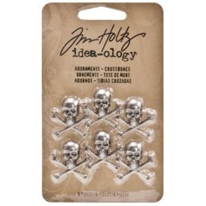 Advantus Tim Holtz Ideaology Adornments: Crossbones