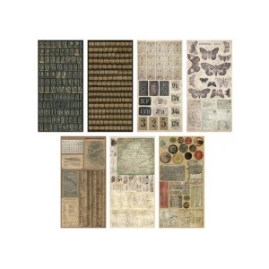 Advantus Tim Holtz Ideaology Salvage Stickers: Crowded Attic