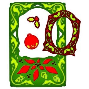 Spellbinders Frameabilities: Poinsettia