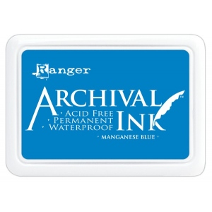 Ranger Archival Ink Pads: Manganese Blue