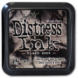 Ranger Distress Pads by Tim Holtz: Black Soot