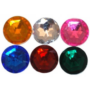 "Bottle Cap Inc. 1"" Mixed Color Gems: Pack of 6"