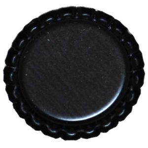 "Bottle Cap Inc. flattened Black 1"": 12 Bottle Caps"