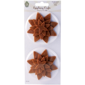 Epiphany Crafts Felt Star Flowers: Adobe