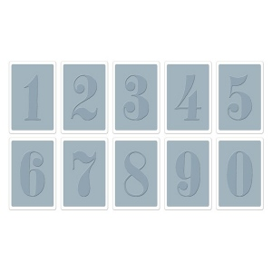 Sizzix Tim Holtz Texture Fades Embossing Folders Set: Numbers