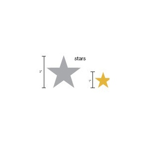 Heidi Swapp Chipboard Shapes Metallic Stars: Copper
