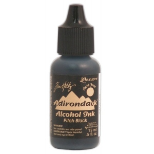 Ranger Tim Holtz Adirondack Alcohol Ink: Open Stock, Pitch Black