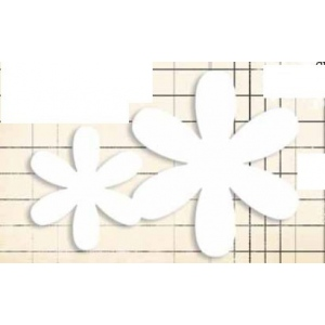 Jenni Bowlin Studio Chipboard Shapes Flower Set: 4 Pieces