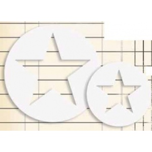 Jenni Bowlin Studio Chipboard Shapes Round Star Frame: 4 pieces