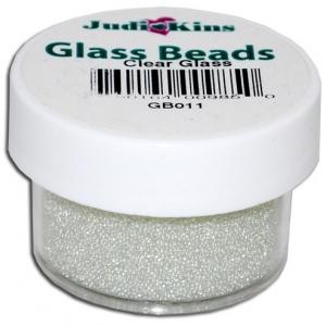 Judikins Glass Beads: Clear Glass, 0.5 oz.