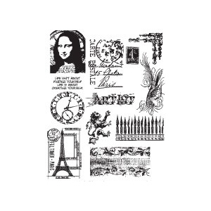 Stampers Anonymous Tim Holtz Cling Mounted Stamps: Mini Classics