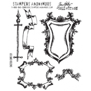 Stampers Anonymous Tim Holtz Cling Mounted Stamps: Sketch
