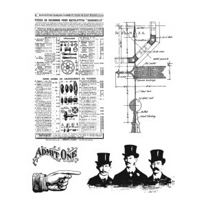 Stampers Anonymous Tim Holtz Cling Mounted Stamps: Steampunk