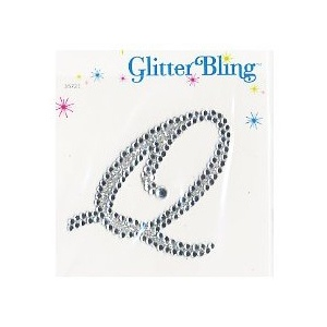 Making Memories Glitter Bling Monogram Script: Q