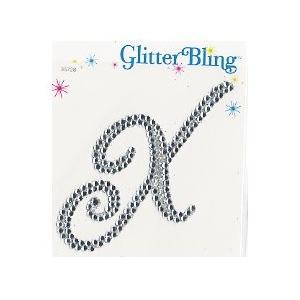 Making Memories Glitter Bling Monogram Script: X