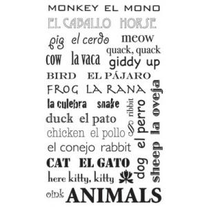 Piggy Tales Black Rub-Ons: Animals
