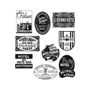 Stampers Anonymous Tim Holtz Cling Mounted Stamps: Travel Labels