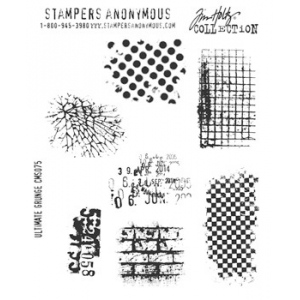 Stampers Anonymous Tim Holtz Cling Mounted Stamps: Ultimate Grunge