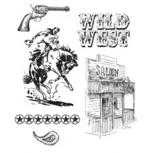Stampers Anonymous Tim Holtz Cling Mounted Stamps: Wild West