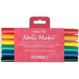 Tsukineko Fabrico Markers Sets: Vivid, 6 Pieces