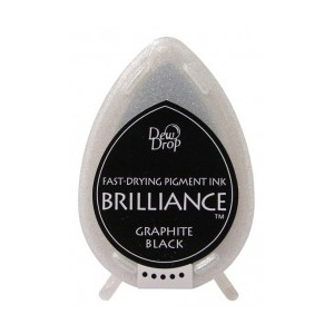 Tsukineko Brilliance Dew Drops: Graphite Black