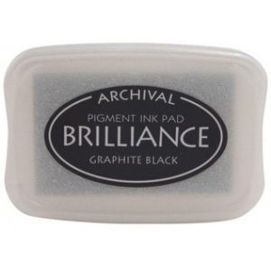 Tsukineko Brilliance Pads: Graphite Black