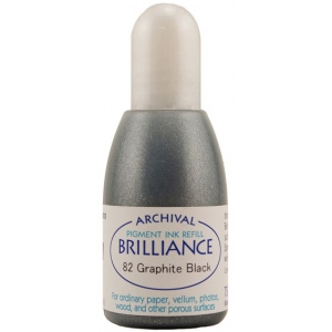 Tsukineko Brilliance Refill Inkers: Graphite Black