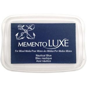 Tsukineko Memento Luxe Inkpad: Nautical Blue